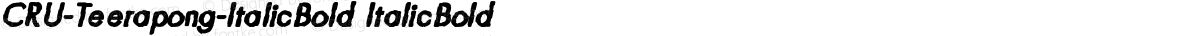 CRU-Teerapong-ItalicBold ItalicBold