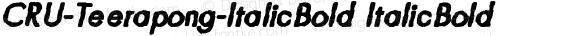 CRU-Teerapong-ItalicBold ItalicBold Version 2.4
