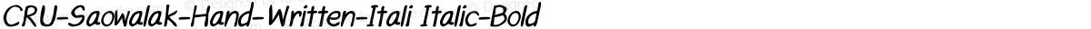 CRU-Saowalak-Hand-Written-Itali Italic-Bold