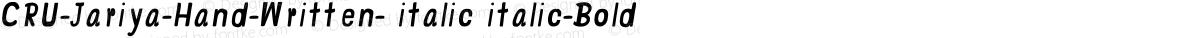 CRU-Jariya-Hand-Written- italic italic-Bold