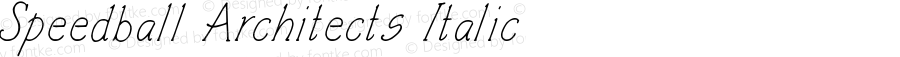 Speedball Architects Italic Version 2.00 February 9, 2013