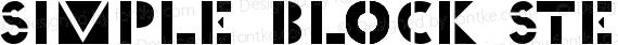 Simple Block Stencil Regular preview image
