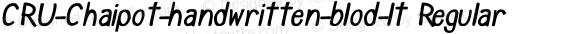 CRU-Chaipot-handwritten-blod-lt Regular preview image
