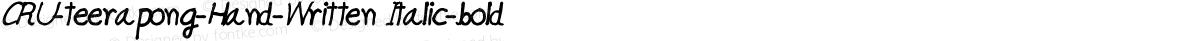 CRU-teerapong-Hand-Written Italic-bold