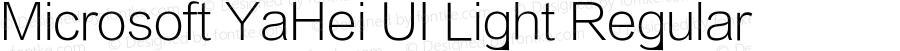 Microsoft YaHei UI Light