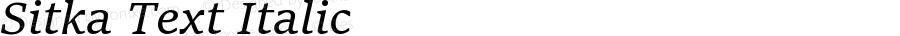 Sitka Text Italic Version 0.60