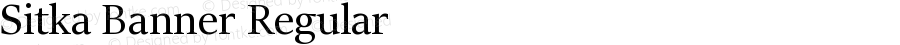 Sitka Banner Regular Version 0.60
