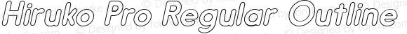 Hiruko Pro Regular Outline Oblique