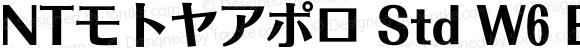 NTモトヤアポロ Std W6 Bold Version 1.00