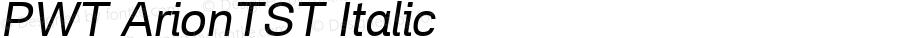PWT ArionTST Italic Version 0.9