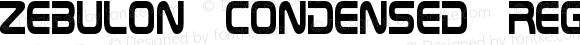 Zebulon Condensed Regular Version 1.00 May 10, 2013, initial release