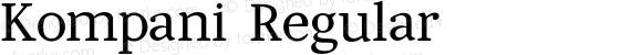 Kompani Regular