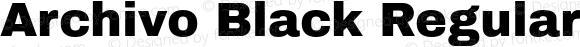 Archivo Black Regular 1.002