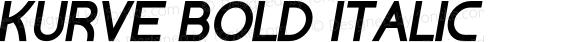 Kurve Bold Italic