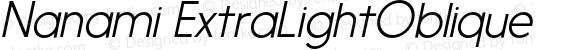 Nanami ExtraLightOblique