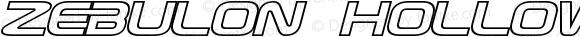 Zebulon Hollow Italic Version 1.00 - June 21, 2013