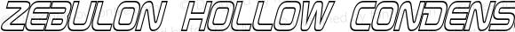 Zebulon Hollow Condensed Italic Version 1.00 - June 21, 2013