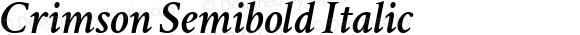 Crimson Semibold Italic