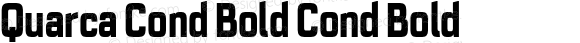 Quarca Cond Bold Cond Bold