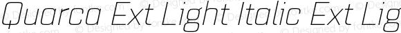 Quarca Ext Light Italic Ext Light Italic