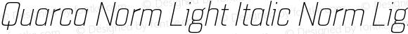 Quarca Norm Light Italic Norm Light Italic