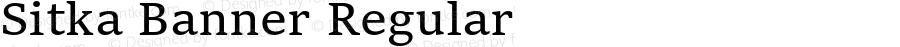 Sitka Banner Regular Version 1.10