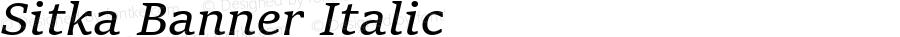 Sitka Banner Italic Version 1.10