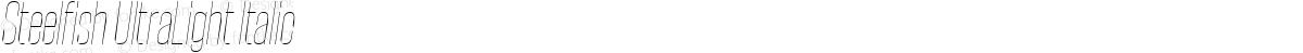 Steelfish UltraLight Italic