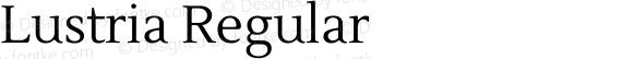 Lustria Regular preview image