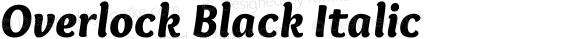 Overlock Black Italic