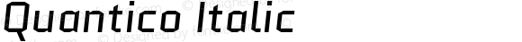 Quantico Italic