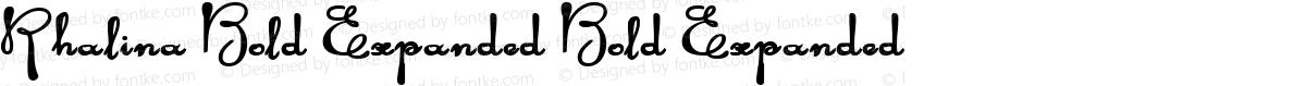 Rhalina Bold Expanded Bold Expanded