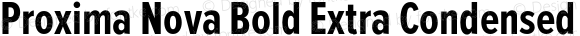Proxima Nova Bold Extra Condensed