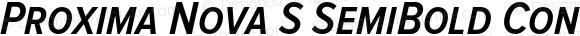 Proxima Nova S SemiBold Condensed Italic
