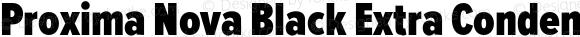 Proxima Nova Black Extra Condensed