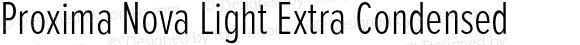 Proxima Nova Light Extra Condensed