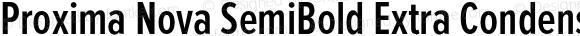 Proxima Nova SemiBold Extra Condensed