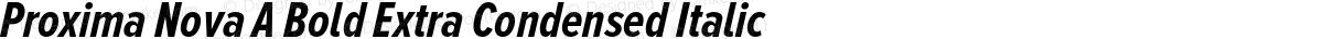 Proxima Nova A Bold Extra Condensed Italic