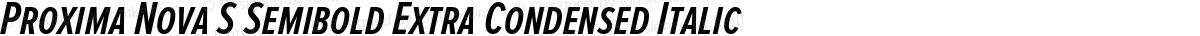 Proxima Nova S Semibold Extra Condensed Italic