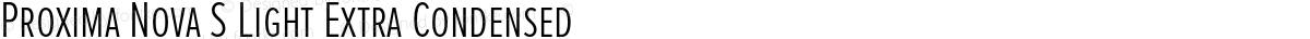 Proxima Nova S Light Extra Condensed