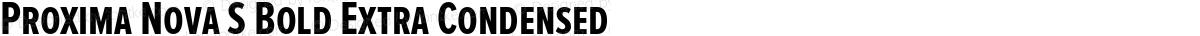 Proxima Nova S Bold Extra Condensed
