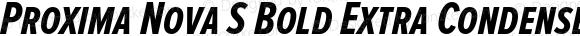 Proxima Nova S Bold Extra Condensed Italic