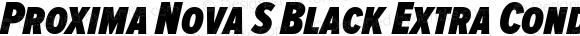 Proxima Nova S Black Extra Condensed Italic