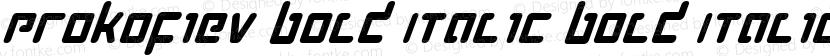 Prokofiev Bold Italic Bold Italic Preview Image