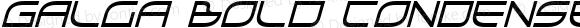 Galga Bold Condensed Italic Bold Condensed Italic