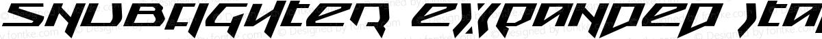 Snubfighter Expanded Italic Expanded Italic
