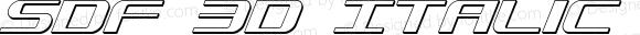 SDF 3D Italic 3D Italic