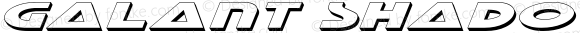 Galant Shadow Italic Shadow Italic