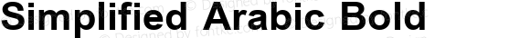 Simplified Arabic Bold Version 6.00