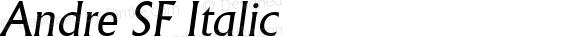 Andre SF Italic Altsys Fontographer 3.5  14.05.1994